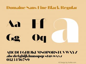 Domaine Sans Fine Black