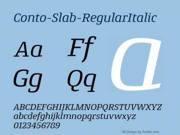 Conto-Slab-RegularItalic