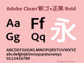Adobe Clean'新ゴ+正黑