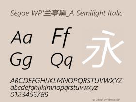 Segoe WP'兰亭黑_A Semilight