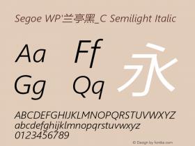 Segoe WP'兰亭黑_C Semilight