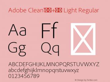 Adobe Clean'新ゴ+正黑 Light