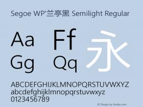 Segoe WP'兰亭黑 Semilight