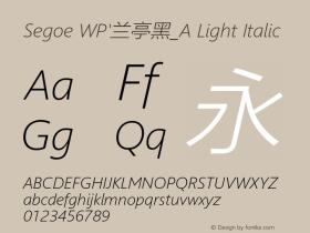 Segoe WP'兰亭黑_A Light