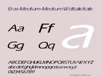 Eras-Medium-Medium Wd Italic