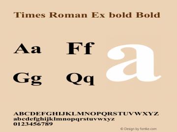 Times Roman Ex bold