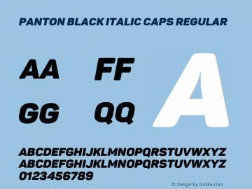 Panton Black italic Caps