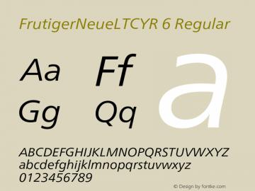 FrutigerNeueLTCYR 6