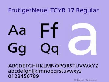 FrutigerNeueLTCYR 17