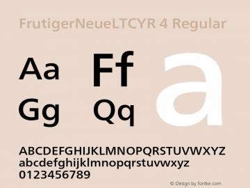 FrutigerNeueLTCYR 4