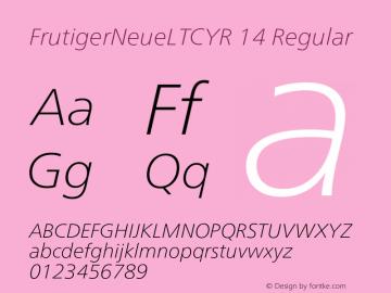 FrutigerNeueLTCYR 14