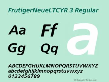 FrutigerNeueLTCYR 3