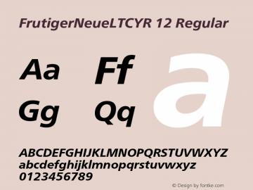 FrutigerNeueLTCYR 12