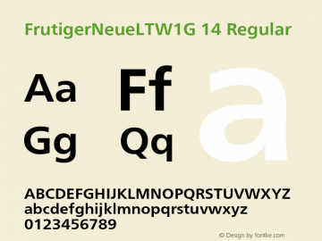 FrutigerNeueLTW1G 14