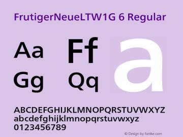 FrutigerNeueLTW1G 6