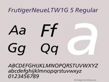 FrutigerNeueLTW1G 5
