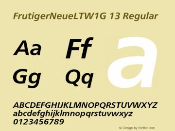 FrutigerNeueLTW1G 13