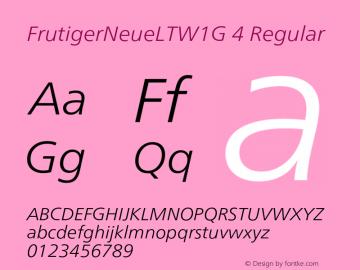 FrutigerNeueLTW1G 4