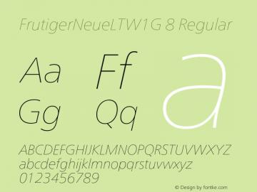 FrutigerNeueLTW1G 8
