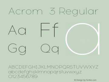 Acrom 3