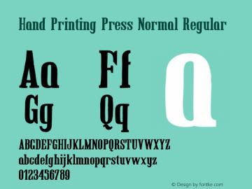 Hand Printing Press Normal