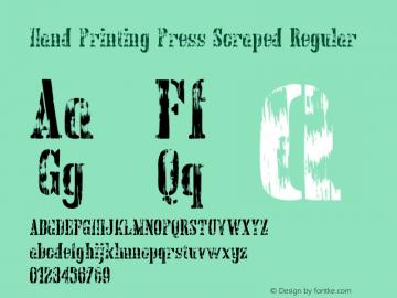 Hand Printing Press Scraped