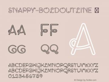 Snappy-BoldOutline