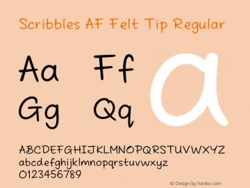 Scribbles AF Felt Tip