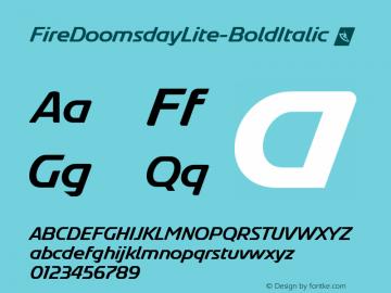 FireDoomsdayLite-BoldItalic