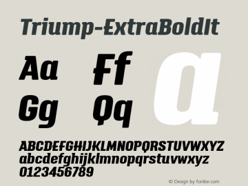 Triump-ExtraBoldIt