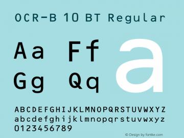OCR-B 10 BT