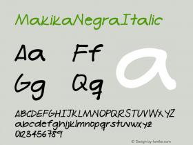 MakikaNegraItalic