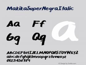 MakikaSuperNegraItalic
