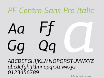 PF Centro Sans Pro