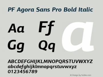 PF Agora Sans Pro