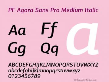 PF Agora Sans Pro Medium
