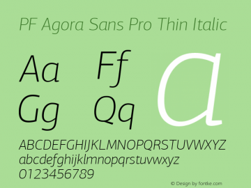 PF Agora Sans Pro Thin
