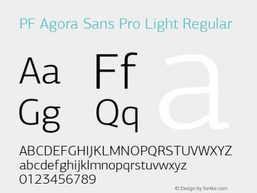 PF Agora Sans Pro Light