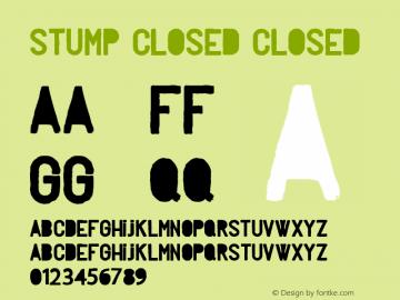 Stump closed