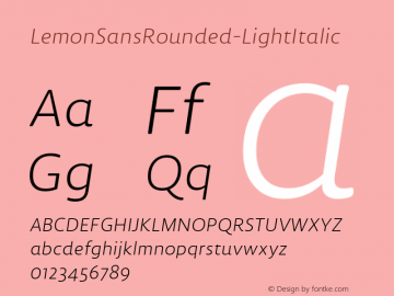 LemonSansRounded-LightItalic