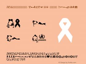 AIDS预防爱滋公益标志字体 zhaozi.cn 找字网制作