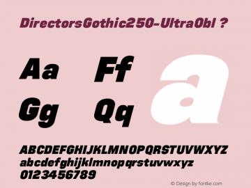 DirectorsGothic250-UltraObl