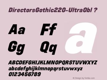 DirectorsGothic220-UltraObl