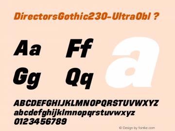 DirectorsGothic230-UltraObl