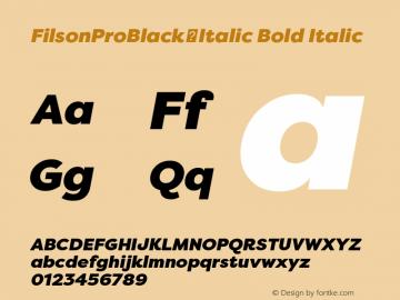 FilsonProBlack-Italic