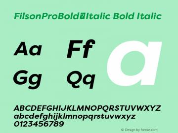 FilsonProBold-Italic
