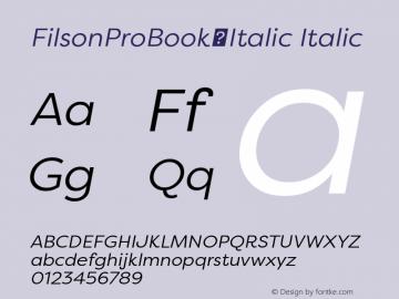FilsonProBook-Italic