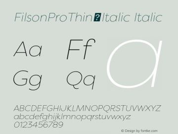 FilsonProThin-Italic