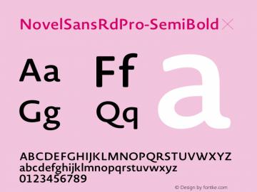 NovelSansRdPro-SemiBold