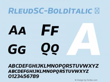 RleudSC-BoldItalic